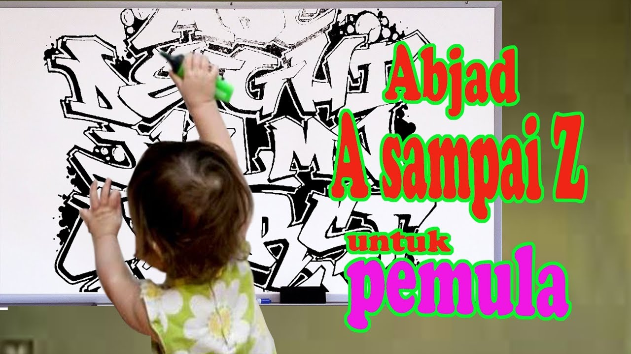 Graffiti abjad a sampai z untuk pemula youtube