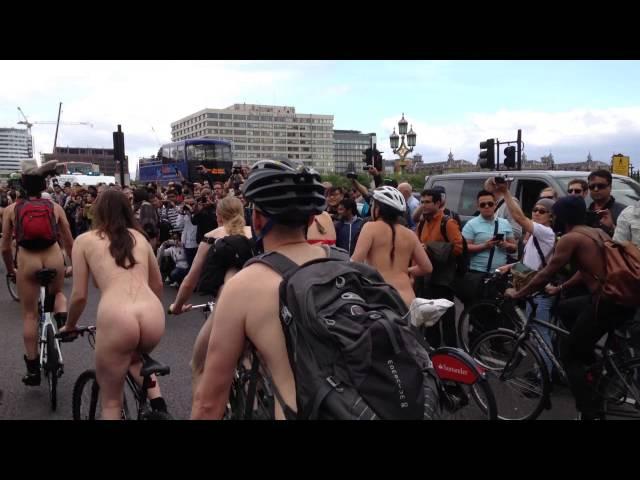London Naked Bike Ride 2015 @ Big Ben