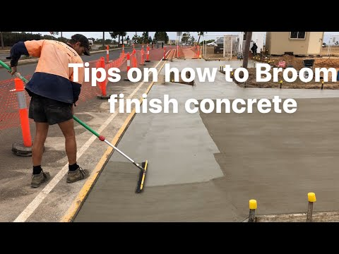 How to broom  finish concrete