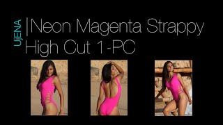 UjENA NEON STRAPPY HIGH-CUT ONE PIECE