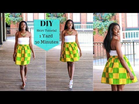 DIY Skirt Tutorial | 1 yard | 30 Minutes