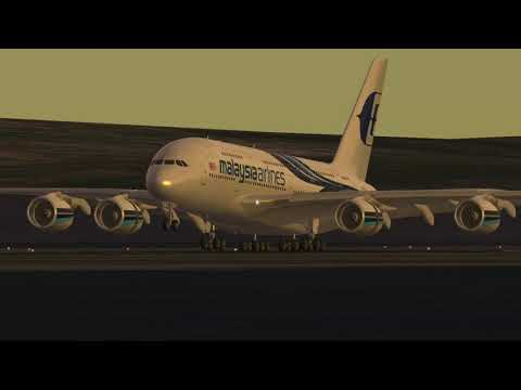 Beautiful Evening touchdown by Malaysia Airlines Airbus 380-800