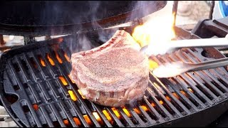 How to Grill a Killer Steak on the Weber Q... Rib Steak (aka: Bone-in Rib-eye)