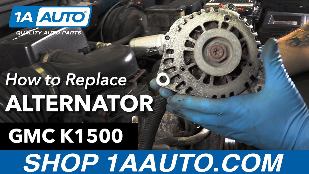 how to replace alternator 96 99 gmc sierra k1500 5 7l [ 1280 x 720 Pixel ]
