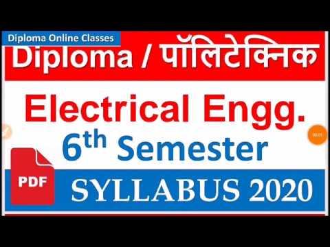 Electrical Engineering 6th Semester Ii Syllabus Ii Diploma Ii Diploma Online Classes Youtube