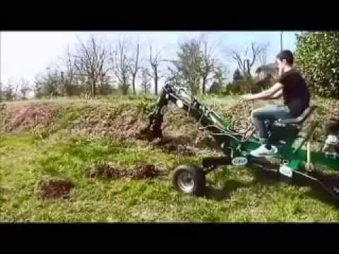 minibagger atv quad bagger motor 9ps geo atv backhoe youtube. Black Bedroom Furniture Sets. Home Design Ideas