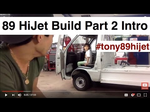 89 Daihatsu HiJet Mini Truck Project and DIY Auto Body And Paint Q&A!