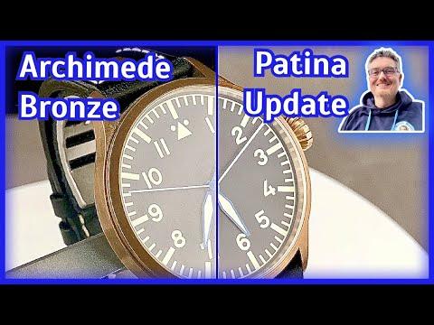So altern Bronze-Uhren