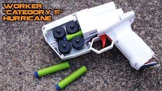 "Insane 190 FPS Semi-automatic ""NERF"" Pistol! ""Category 5"" Hurricane Blaster Mod | Walcom S7"