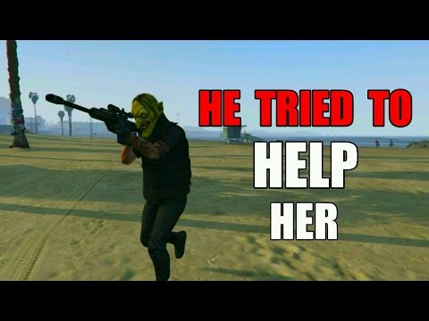 Boyfriend Tried To Help Her At 1v1 GTA 5 Online (GONE WRONG)