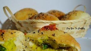 Baked Vada Pav ( Stuffed Buns ) With Crispy Garlic Chutney...