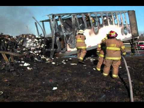 Multiple Explosions Tear Through A Semi Trailer In Lake Station
