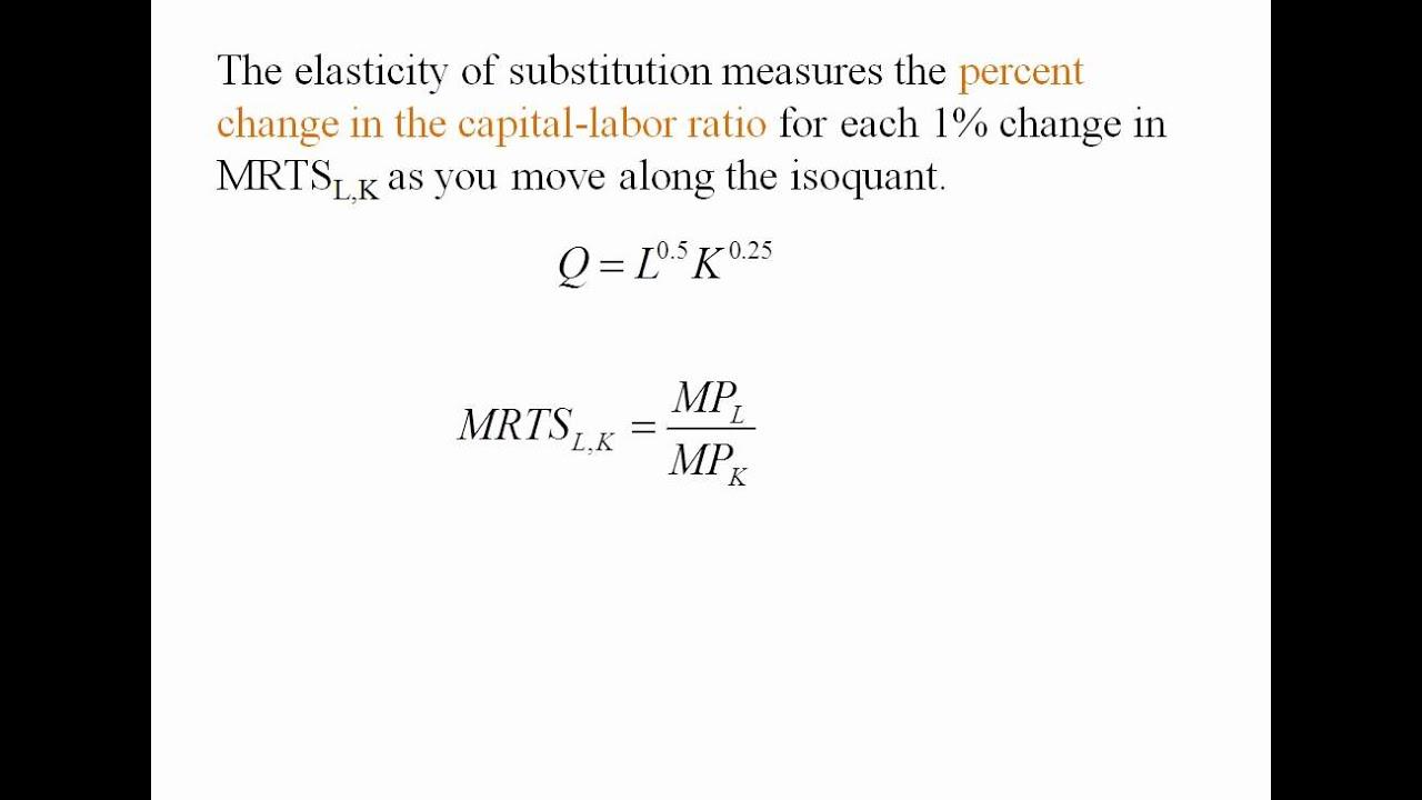 factor substitution in economics