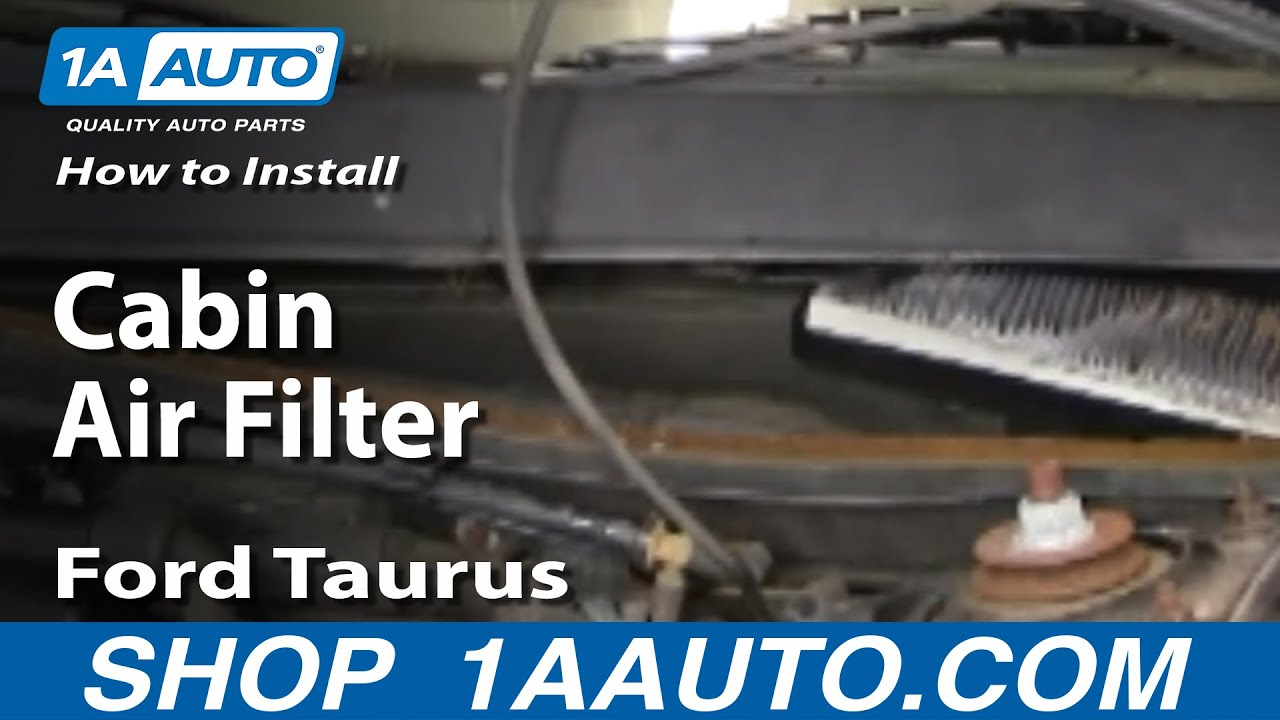 How To Install Replace Cabin Air Filter Ford Taurus Mercury Sable 9607 1AAuto  YouTube