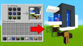 Minecraft Tutorial: How To Make Your First Modern Tree house