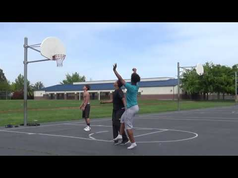 Hoop session with shoe bet