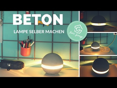 beton deko selber machen designerlampe selber machen. Black Bedroom Furniture Sets. Home Design Ideas