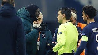 Скандал на матче Лиги Чемпионов Футболисты Башакшехира прервали матч и ушли с поля