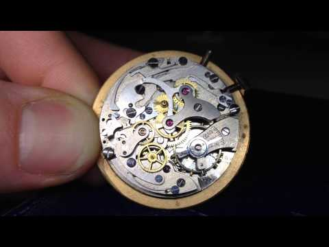 Vintage Rare CHRONOGRAPHE SUISSE Watch Movement Chronograph 17. Landeron Cal 48? Video7333