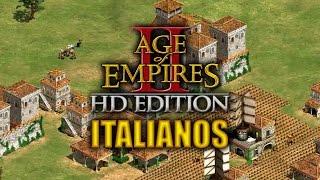 JUGANDO Age of Empires 2 HD Edition - LLEVANDO A LOS ITALIANOS (Mayorcete)