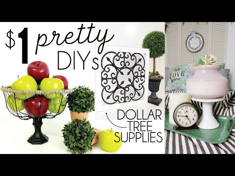 Dollar Tree Pretty DIYs | PRETTY Farmhouse DIY | Farmhouse Storage | DIY Storage
