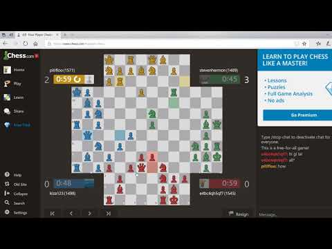 4 PLAYER CHESS FFA EPISODE 7 MORE DOUBLE CHECK ABUSE