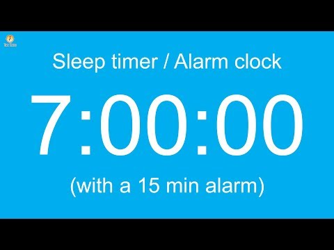 7 hour Sleep timer / Alarm clock (Normal version)
