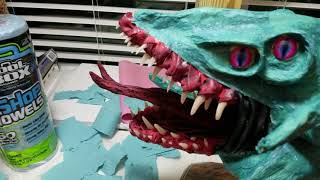 Tips on making paper mache Dragons!