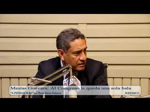 Mesías Guevara: Al Congreso le queda una sola bala