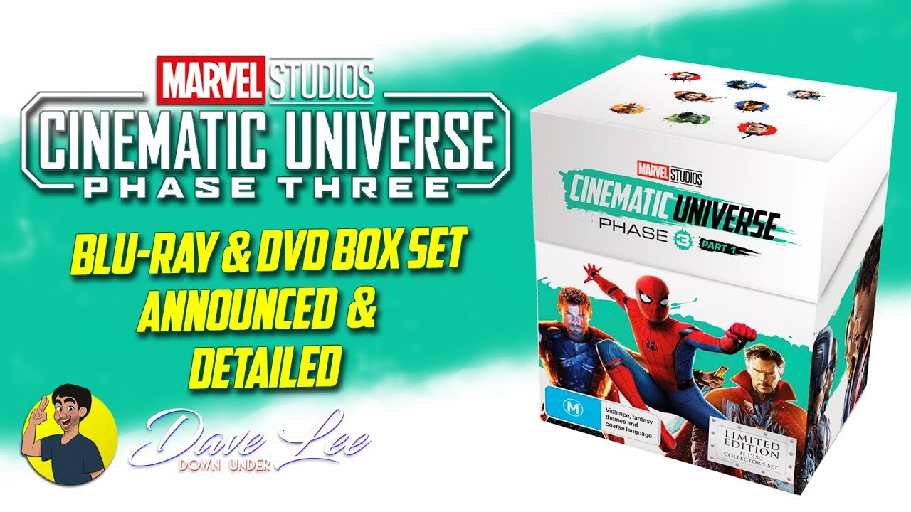 MARVEL CINEMATIC UNIVERSE: PHASE 3, PART 1 - Blu-ray, DVD Box Set Announced  & Detailed