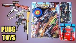 PUBG Toys Collection 2019| Pubg Gun,Pubg Airdrop, Helmet,Laser Gun etc. Unbox & review