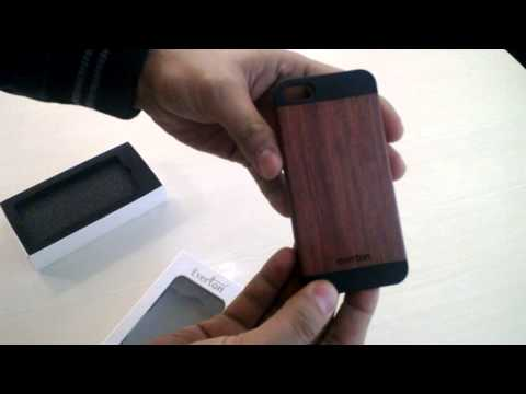 Everton Apple iPhone 5/5S Wooden Case Contour Rose Wood + Black