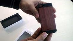 Everton Apple iPhone 5/5S Wooden Case Contour Rose Wood + Black
