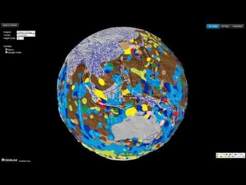 Virtual Seafloor Geology Globe spinning East-West