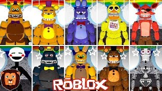 HOW TO TRANSFORM IN ALL THE ANIMATRONICS OF FIVE NIGHTS AT FREDDYS IN ROBLOX LEON PICARON