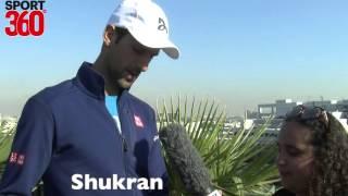 World No.1 Novak Djokovic aces Sport360's Arabic Test