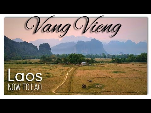 Travel Laos: Welcome to Vang Vieng - Nam Song River by Drone - Gary's Irish Bar - Now to Lao Vlog