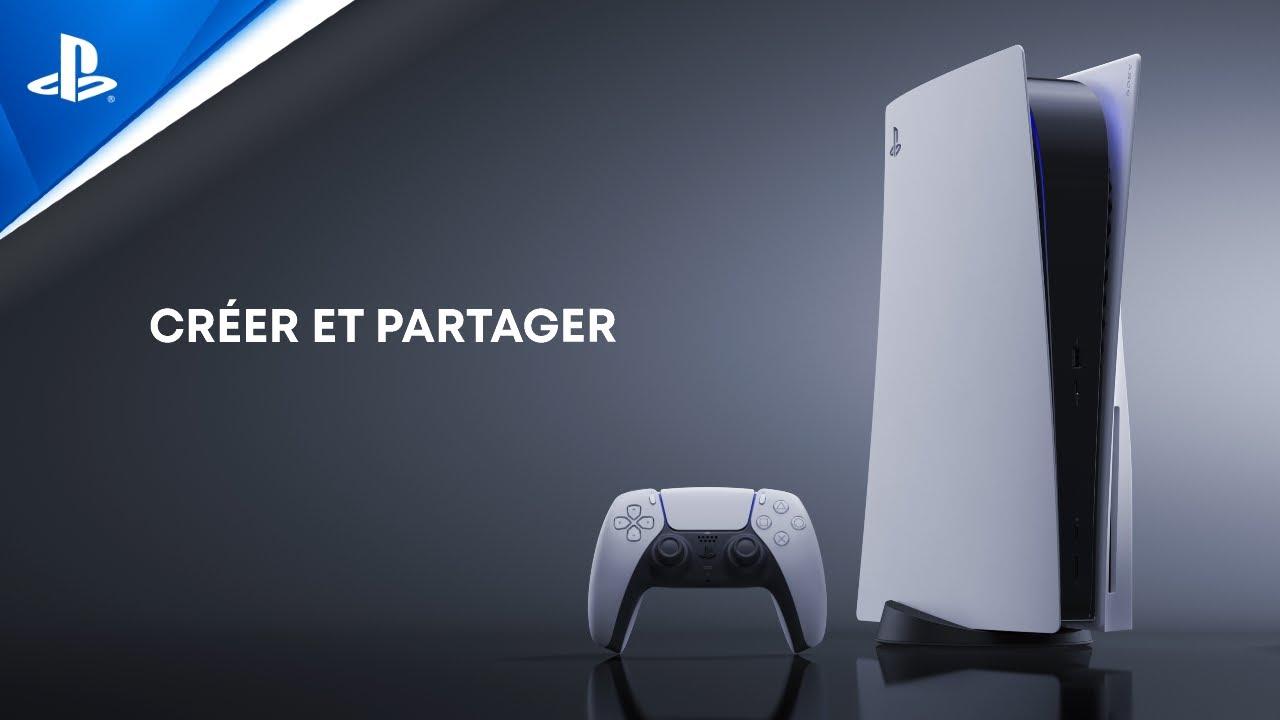 Explorer l'interface utilisateur de la PS5 - Créer et partager