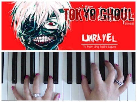 TOKYO GHOUL: UNRAVEL | Easy PIANO Tutorial | 東京喰種(トーキョーグール)ピアノチュートリアル