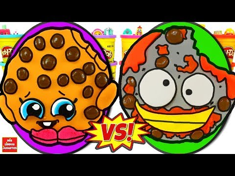 Huevo Sorpresa Gigante de Shopkins VS Grossery Gang 5 de Plastilina Play Doh en Español