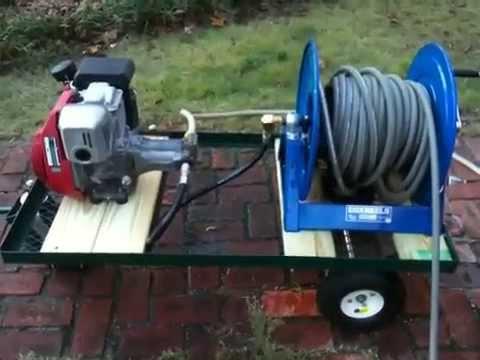 Custom Pressure Washer Cart With Honda Motor And Reel You