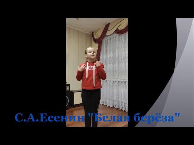 Изображение предпросмотра прочтения – ДарьяКоролёва читает произведение «Берёза» С.А.Есенина