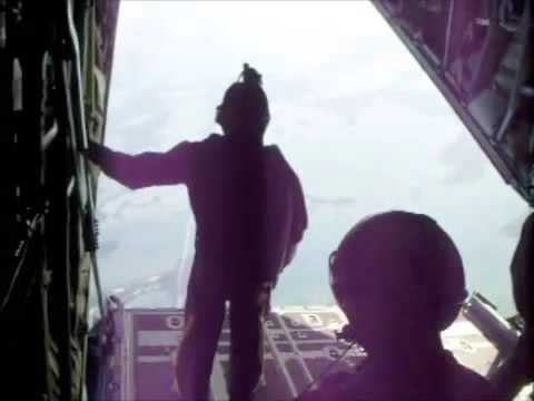 U.S. Navy special forces C-130 jump
