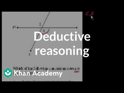 CA Geometry: Deductive reasoning | Worked examples | Geometry | Khan Academy