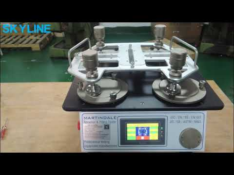 ISO 12945-2 ASTM D4966 Textile Testing Equipment Martindale Abrasion And Pilling Tester