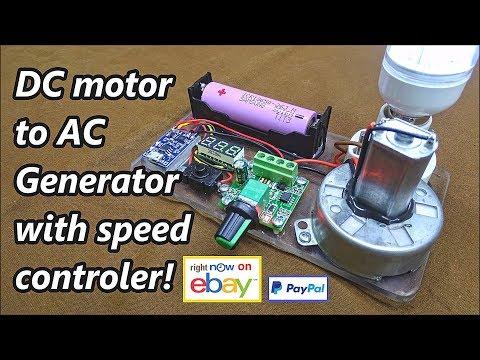 DC Motor To AC Generator!