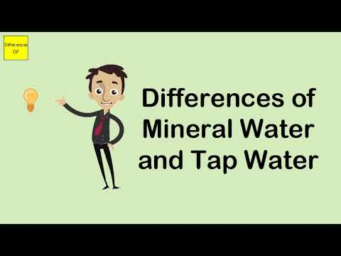 Differences Of Mineral Water And Tap Water
