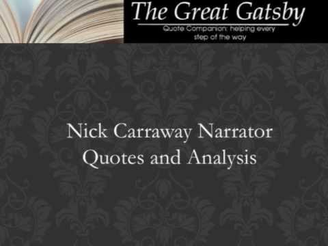 who is the narrator for the great gatsby