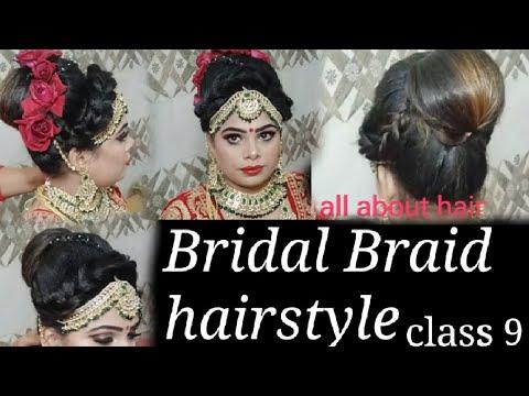 Bridal Arabian Braid Hairstyle In Simple Way Hindi Youtube