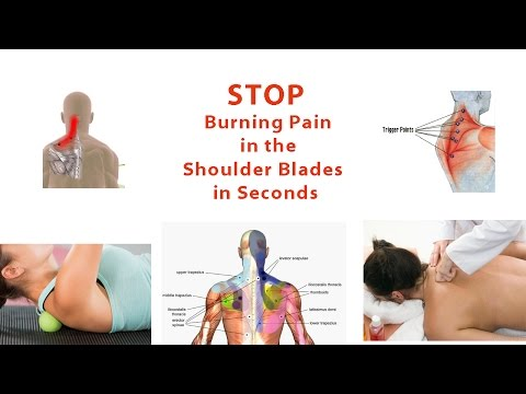 Pain between shoulder blades and tingling in left arm